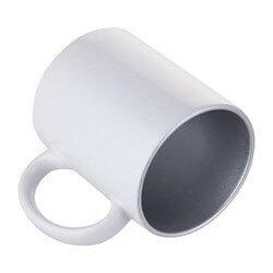 dosublimacji.pl - Kubek biały - jasnozielone wnętrze i ucho COMBO